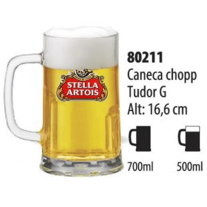 Caneca de Vidro Personalizada Tudor 500 ml