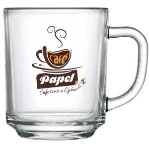 Caneca de Vidro Personalizada para Café
